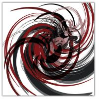Black and Red Twist by ModernArtist123