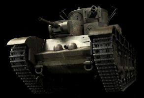 T35 Heavy Soviet Tank WIP1 by JohnnieWooker