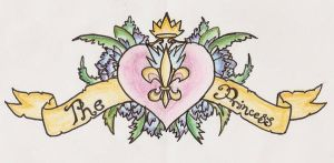 Princess Back Tattoo Design by Cupcake-Lakai