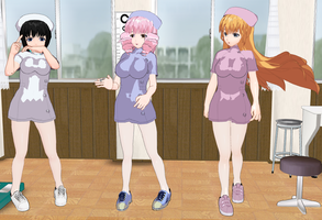 Katawa Shoujo girls Nurses by quamp