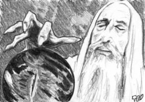 Saruman sketch card 2 by tdastick