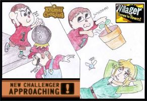 Villager Enters the Brawl! SSB4 + Wii Fit lady? by WalkerP