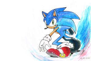 .:SONIC:. colored by Psychograve