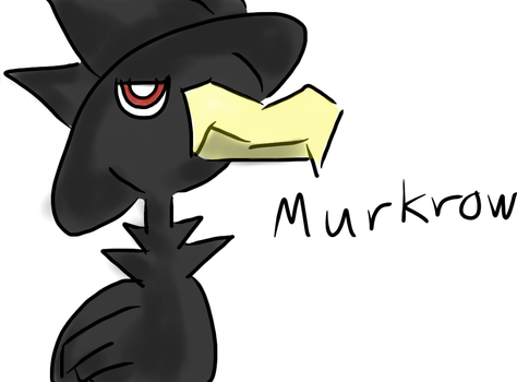 iPad stylus test - Murkrow by wolfshadowxd
