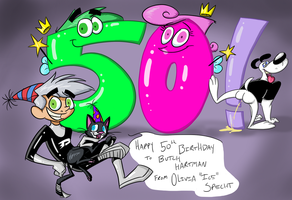 Happy 50th Birthday Butch Hartman by phantom-ice