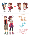 Gravity falls AU - Fight Falls by Buryooooo