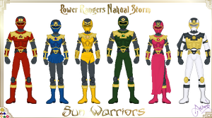 Power Rangers Nahual Sun by Ameyal