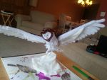 Owl sculpture (front) by Creeate97