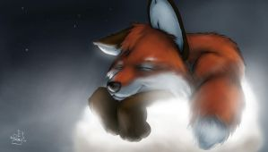 Strange-fox - Sleeping on... by Fur-For-All