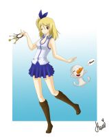 Lucy and Plue by eQumi