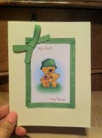 Military Dad Card- Green by PinkBunnie