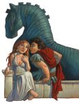 Helen of Troy and Paris by MaxHierro