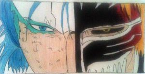 Grimmjow vs. Ichigo by diamondgirl600