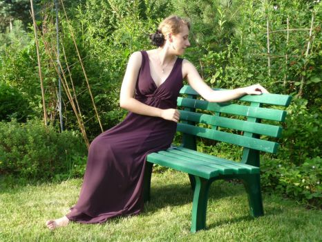 lady - garden bench 4 by indeed-stock