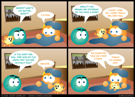 SC333 - Marvin is Sick by simpleCOMICS