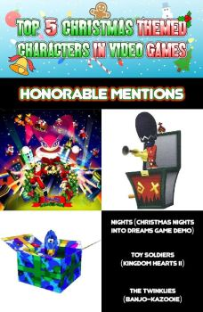 Top 5 List: Christmas Themed Characters - HM by GamersIntel