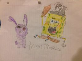 Spongebob And Bonnie dressed up as pirates by CilanDPFanGirl