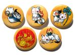 okami button set by michellescribbles