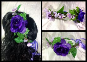 Whimsical Wisteria Fairy Crown by Mink-the-Satyr