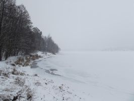 Winter and the fog 12 - lake by Pyrgus