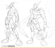 Thor Sketching by ComicFiction