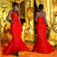 Sheva Evening Dress DL by ZayrCroft