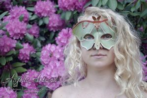Luna Moth Mask featuring Lee Hakima by Angelic-Artisan
