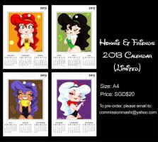 Honnie and Friends 2013 Calendar by mashi