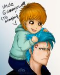 Kazui and uncle Grimmjow by Kathyana