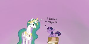 Celestia and faithful student by Katakiri
