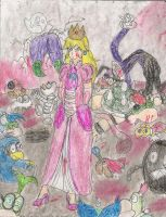 the not so innocent princess peach by kingofthedededes73