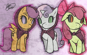 Corrupt Cutie Mark Crusaders by PonySocialExperiment