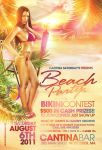 Beach Party Bikini Flyer by DeityDesignz