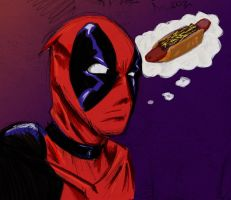 Deadpool's Chili Dog by RyanMcMurry