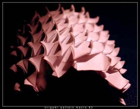 origami pattern macro 3 by orsobrusco