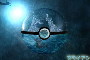 pokeball under water by deathmaster4690