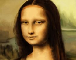 Mona Lisa crop by Indylicious