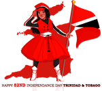 Happy Independence Day T&t by LittleMissSquiggles