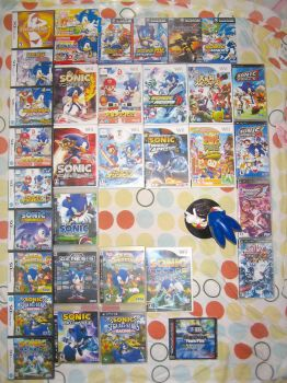 My Sonic games collection by BsaturnineD