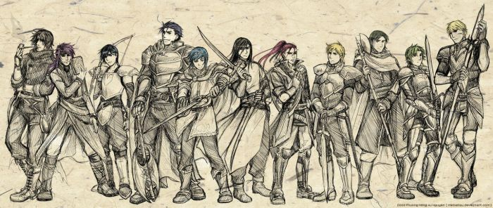 Fire Emblem Faves - Males by Meibatsu