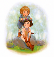 Smauglock and Bilbo by frogstarr