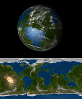 The inverted earth: oceans and continents by Dragontunders