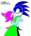 Pandora and Sonic Kissing by mychemicalromance13