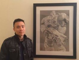 Jim Raynor Pencil Drawing (Framed) by yipzhang5201314