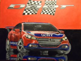 Traditional painting of Dodge Dart by Launadoon
