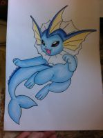 Vaporeon - Happy Swim- FOR SALE by sazmullium