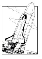 space shuttle by Santini