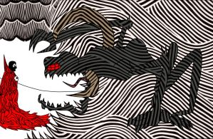 Spawn and the Violator: Stanley Donwood style: V.2 by SmuglyOtaku