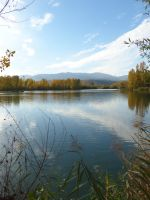 Blue pond in autumn by A1Z2E3R