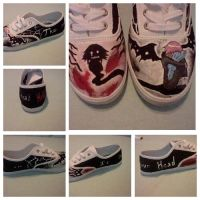 Crona shoes. (my 1st shoes I painted.) by Chibi-Mi